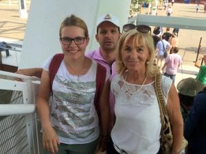 Und wir mittendrin... Frau De Carli, Marcus und Elisa