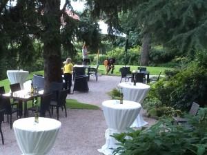 Der Parkgarten im Weingut Elena Walch